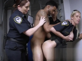 criminal suspect gets fucked by a group of curvy milf cops Xxx  tube