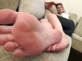 tired office girl teases with sweaty feet after work.(high heels and bare) Xxx  tube